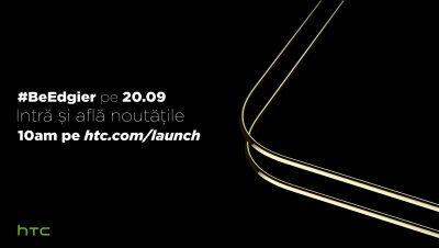 HTC va lansa un smartphone cu display de tip edge pe 20 septembrie