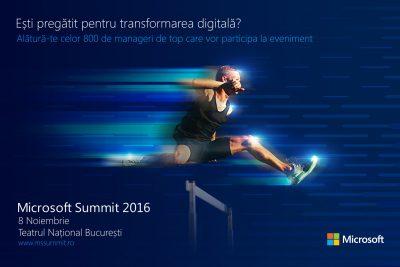 Microsoft Summit 2016: Transformarea digitală – noua realitate a mediului de afaceri