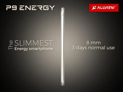 Allview P9 Energy va avea o grosime de numai 8 mm