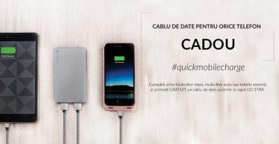 Cablu de date pentru orice telefon, cadou la Quickmobile