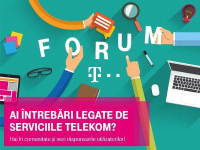 Telekom Romania anunta forum.telekom.ro – un nou canal de comunicare online pentru clientii companiei