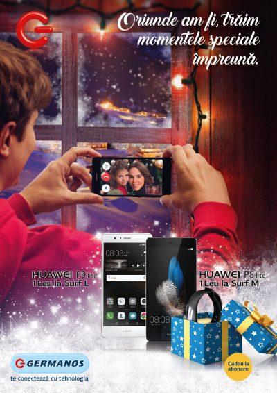 De sărbători, oferta Telekom Romania și Germanos include telefoane inteligente la prețuri de 1 leu