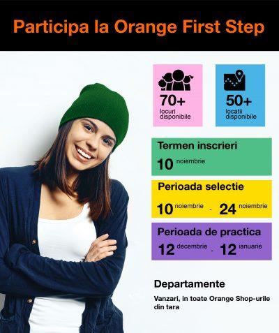 Orange lansează o nouă ediție a programului de practică Orange First Step