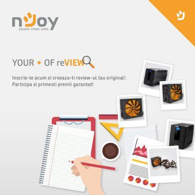 Exprima-ti punctul de vedere in noua campanie de review pentru produse nJoy
