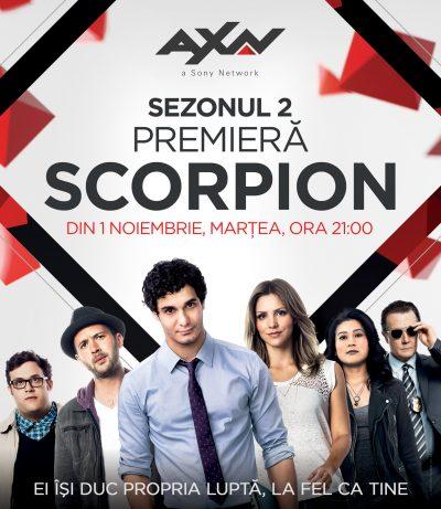 Premieră Scorpion, sezonul 2, din 1 noiembrie, ora 21:00, pe AXN