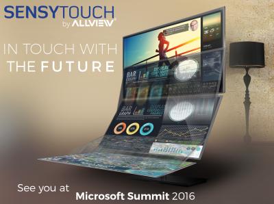 Allview si SensyTouch vor lansa un birou interactiv la Microsoft Summit 2016