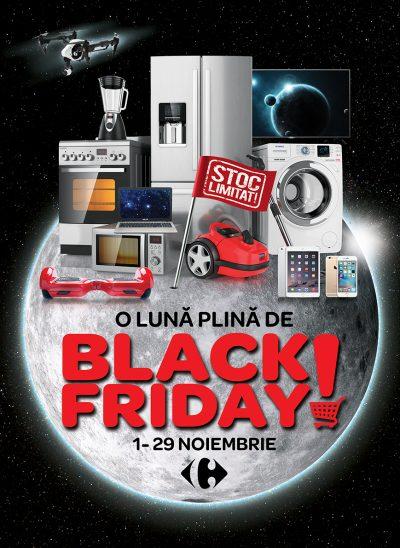 Carrefour a pregătit de Black Friday o lună plină de reduceri de până la 50% la sute produse electronice, electrocasnice, IT şi telecom