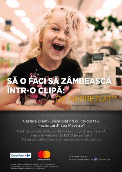 O Toyota Auris Hibrid, la o tranzacție cu cardul distanță – o nouă campanie Mastercard și Carrefour România