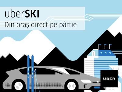 Uber lansează uberSKI în Brașov și tarife fixe pentru cursele între Brasov și Poiană