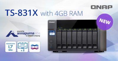 QNAP a lansat TS-831X, un NAS accesibil cu procesor quad-core la 1.7 GHz