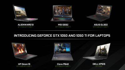Plăcile video GeForce GTX 1050 și GTX 1050 Ti sunt disponibile pe laptopuri