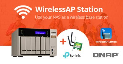 WirelessAP Station transformă NAS-ul QNAP într-o stație de bază wireless