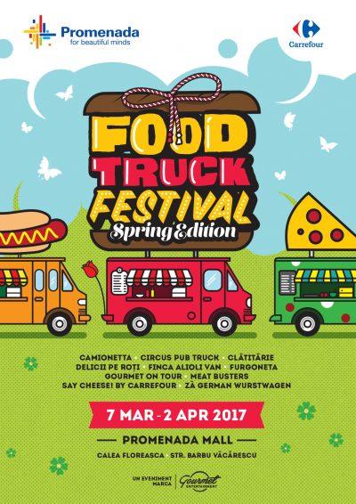 Carrefour initiaza parteneriatul strategic cu  Gourmet Entertainment si creeaza primele meniuri dedicate in cadrul Food Truck Festival, 07.03-02.04.2017