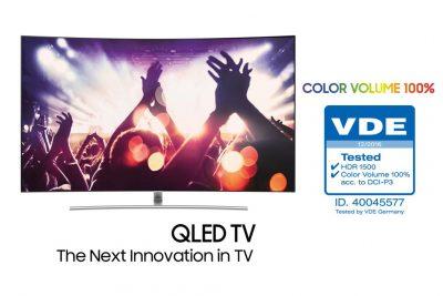 Noul Samsung QLED TV e primul televizor ce redă un volum de culoare de 100% testat