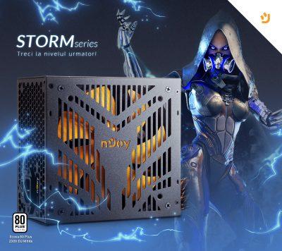 Brandul nJoy lanseaza  o noua serie de surse gaming, Storm Series, certificate Ecova