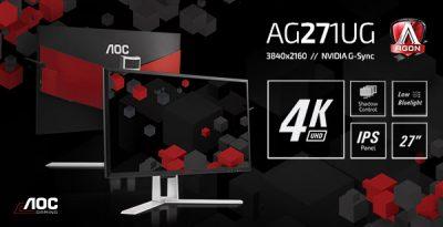 AOC AGON cu display 4K IPS și tehnologie NVIDIA G-SYNC