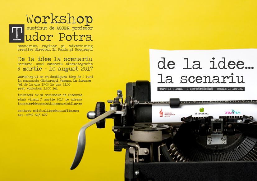 Inscrierile la atelierul de scenaristica organizat de Cristina Iacob, regizorul #selfie69 si scenaristul Tudor Potra se prelungesc pana miercuri