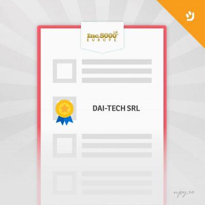 Dai-Tech SRL face parte din prestigiosul clasament Inc. 5000 Europe