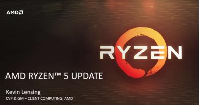 Procesoarele AMD Ryzen 5 disponibile în computere desktop performante începând cu data de 11 Aprilie