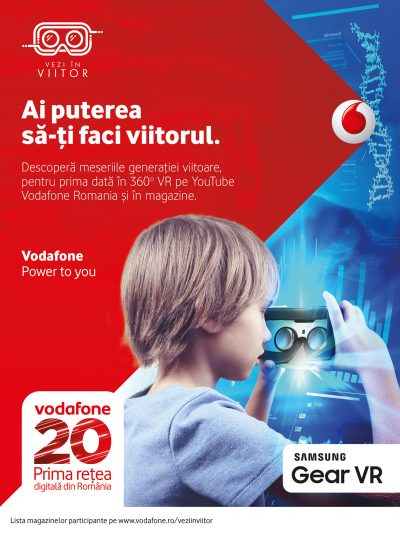 Vodafone România ilustrează meseriile viitorului cu ajutorul realității virtuale 360°