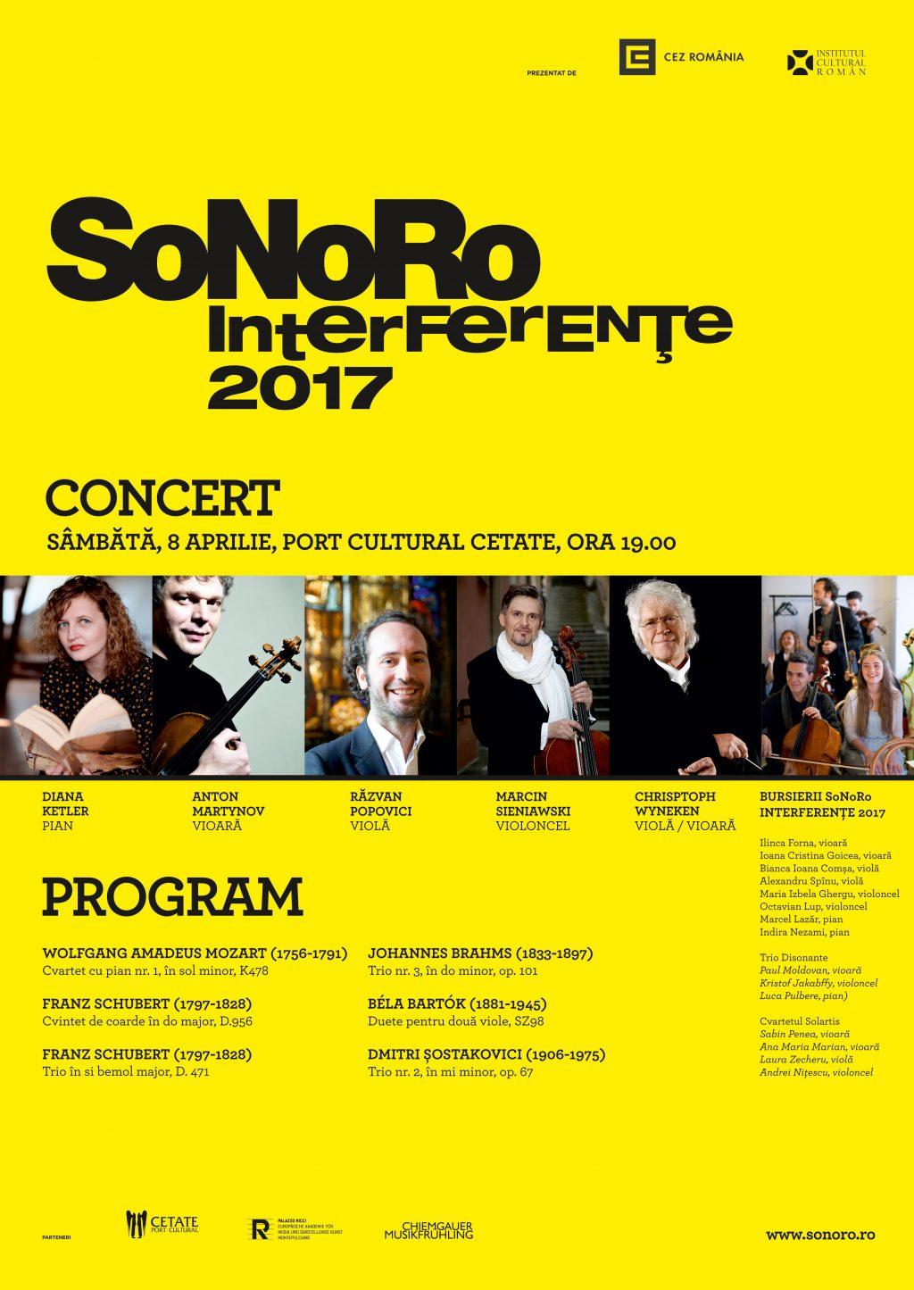 SoNoRo Interferențe 2017: începe turneul european al tinerilor muzicieni de valoare