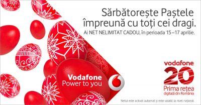 De Paste, Vodafone Romania ofera trei zile de internet national nelimitat gratuit