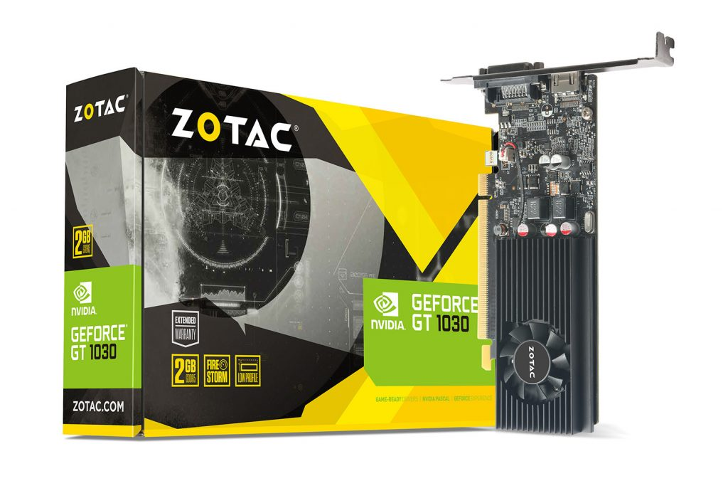 ZOTAC Accelerates Your Entire PC experience with GeForce® GT 1030