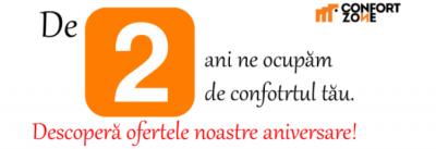 Magazinul ConfortZone.ro sărbătorește alături de voi prin oferte speciale!