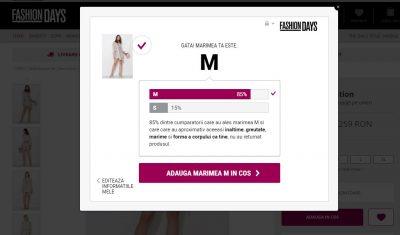 Fashion Days lansează în premieră Fit Finder, un tool care le recomandă clienților ce măsură li se potrivește pentru îmbrăcăminte și încălțăminte
