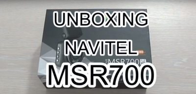 Camera auto DVR Navitel MSR700 – unboxing