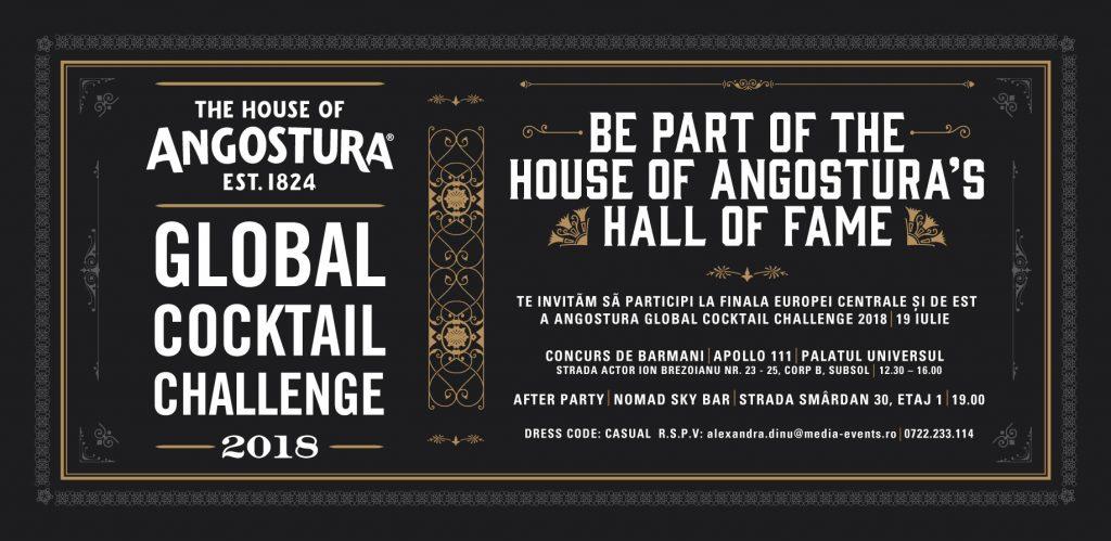Angostura Global Cocktail Challenge 2018  – 10.000 de dolari pentru cel mai bun barman