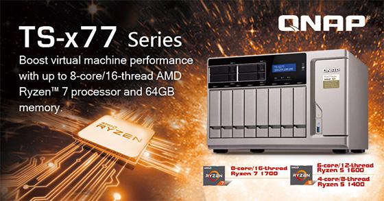 QNAP a prezentat primul server NAS cu procesor AMD Ryzen