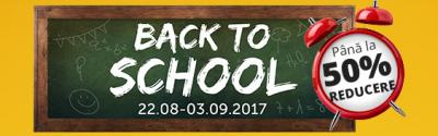 """Recomandarea zilei: Campanie """"Back to School"""" la evoMAG in perioada 22 August – 3 Septembrie"""