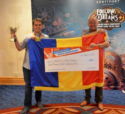 Reprezentantul României, pe primul loc la campionatului mondial Microsoft Office Specialist 2017