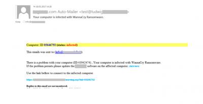 În T2, autorii de mesaje spam au profitat de WannaCry pentru a promova servicii frauduloase de protecție împotriva acestui ransomware