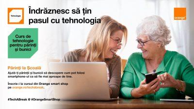 Părinți la Școală – cursuri gratuite de tehnologie pentru părinți și bunici în magazinele Orange smart shop