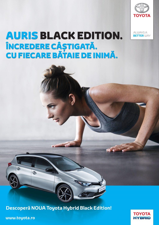 Toyota Auris Hybrid Black Edition – stil și tehnologie inovatoare pentru o viață dinamică