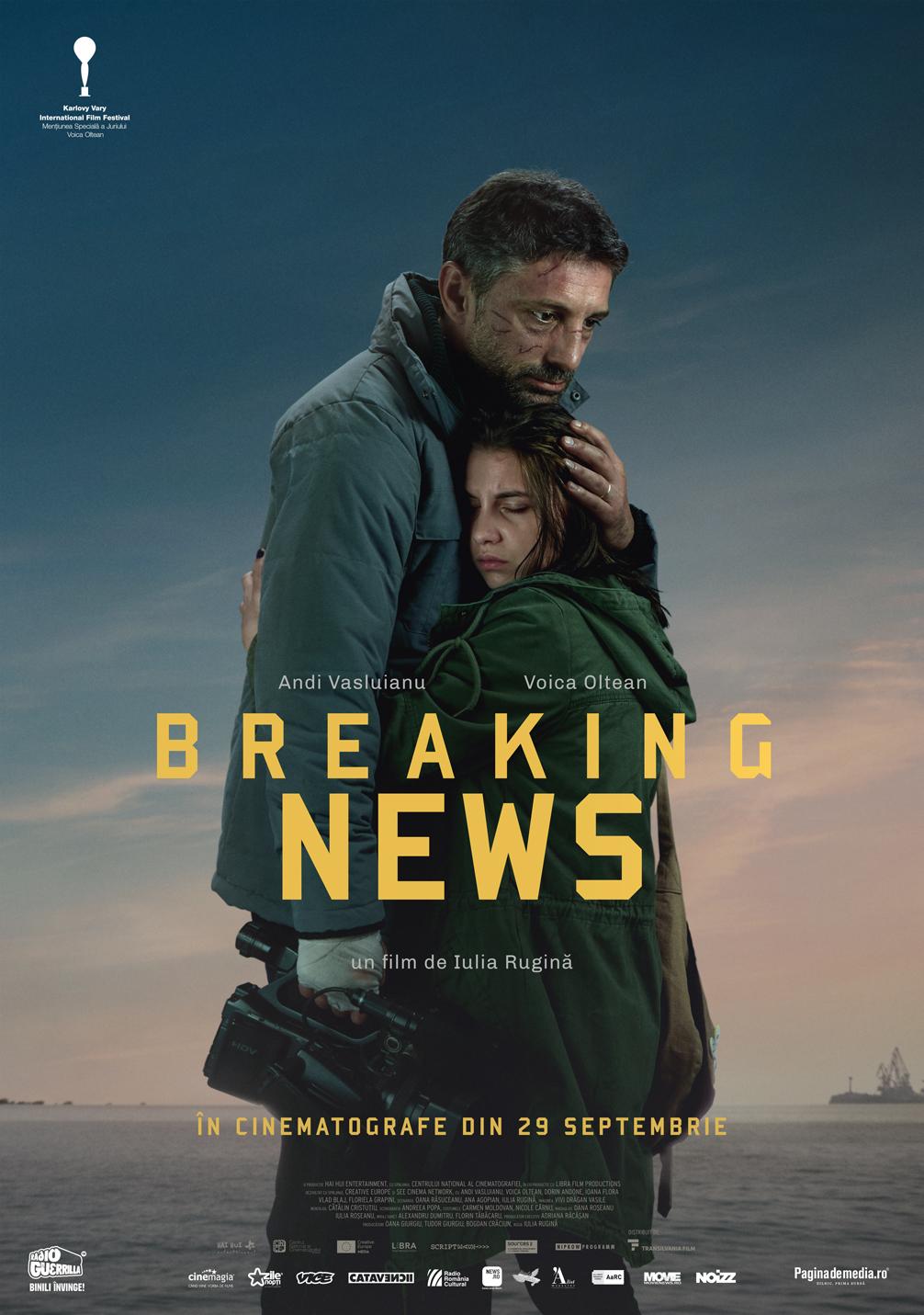 """Andi Vasluianu în """"Breaking News""""  """"Jurnalismul e adrenalină. E ca la actori, nu te lasă în pace, altfel nu funcționezi"""""""