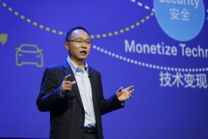 "David Wang, President of Huawei's Products & Solutions, released ""Connection+Cloud"" dual drivers of digitization strategy."