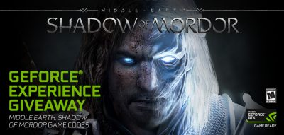 50.000 de utilizatori GeForce Experience vor primi gratuit Middle-earth: Shadow of Mordor; Noul driver Game Ready pentru Project Cars 2;