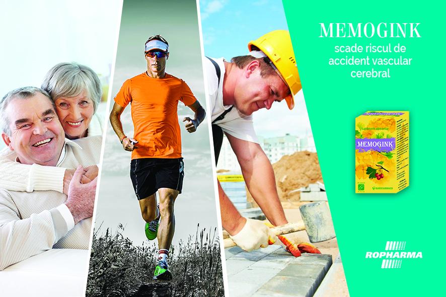 Memogink scade riscul de accident vascular cerebral