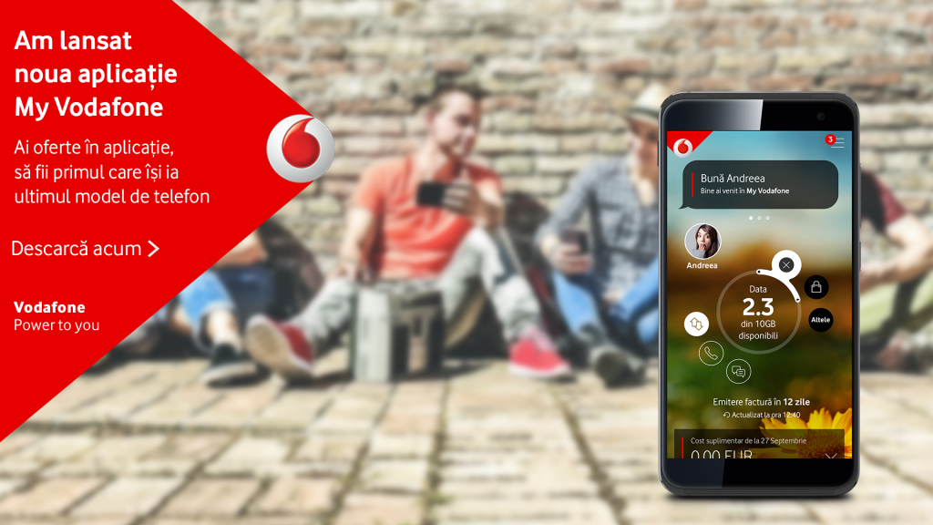 Vodafone Romania lanseaza o noua versiune a aplicatiei My Vodafone