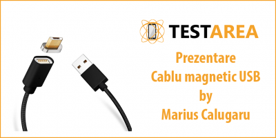 Cablu USB magnetic cu adaptoare Lightning, micro USB si USB type-C – prezentare