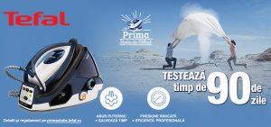 Tefal Prima statie de calcat- Testeaza timp de 90 de zile