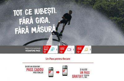 Cu Vodafone Pass,  abonatii Vodafone Romania au acces la aplicatiile de social media, video si muzica fara a consuma traficul din abonament