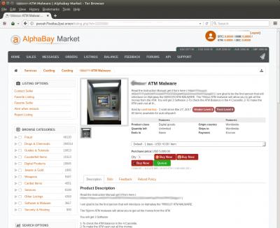 Kaspersky Lab a identificat Cutlet Maker, noul kit malware de atac asupra ATM-urilor, creat pentru infractorii amatori