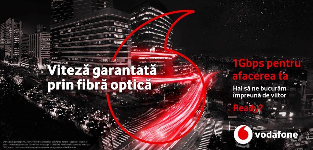 Vodafone Romania ofera companiilor latime de banda dedicata cu viteze de pana la 1Gbps prin noile servicii de internet prin fibra optica