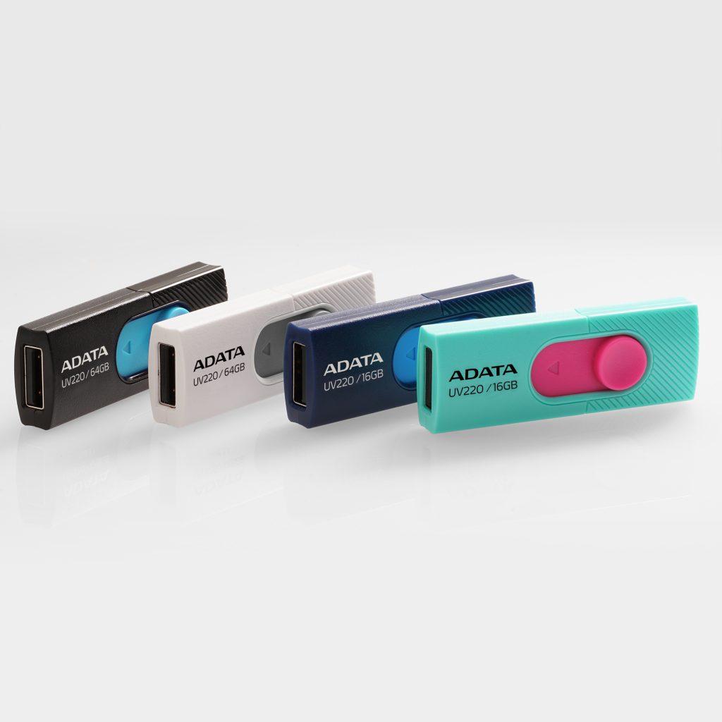 ADATA prezinta noile flash drive-uri USB UV220 si UV320
