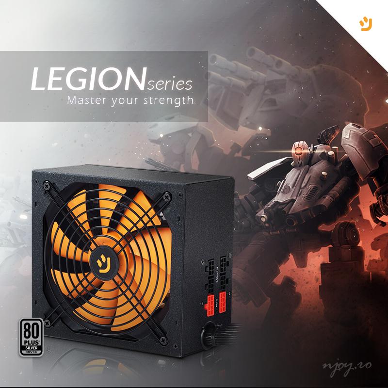nJoy lanseaza doua noi surse semi-modulare PC, Legion Series, si doua modele de carcase gaming, Ice Cage si Zion*