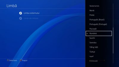 Consola PlayStation 4 include acum meniu în limba română, în urma actualizării la versiunea de sistem 5.0
